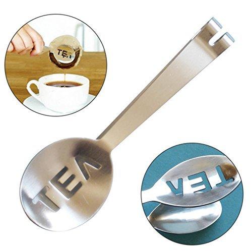 cofco Edelstahl Tee Tasche tatgs Squeezer Sieb Halter Grip Mini Zucker Clip Küche Bar Tools - Tee-sieb Bar