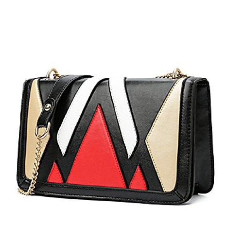 DFUCF Damen Damen PU Büro Beruf Umhängetasche Kuriertasche Handtasche Umhängetasche Tasche Mode Lässig Robust Langlebig Gold