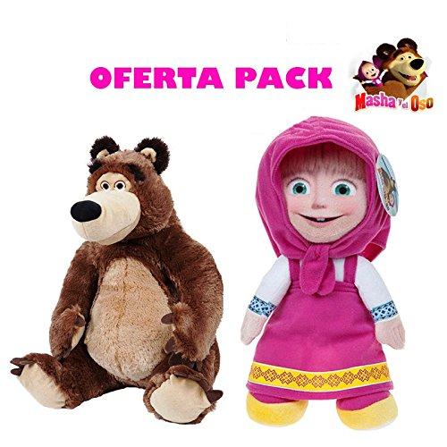 Masha y el Oso Peluches Pack 2 Unidades