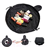 Travel Cosmetic Bag, NTMY Large Capacity Makeup Bags Toiletry Bag Portable Makeup Case Pouch Jewelry Organizer Multifunction Storage Quick Pick Up with Zipper and Drawstrings,1Pack