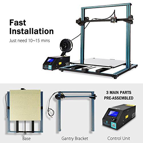"""SainSmart x Creality 3D-Drucker """"CR-10 Plus"""" vormontiert, hohe Präzision mit beheiztem Druckbett, große Druckgröße 500x500x500mm - 5"""