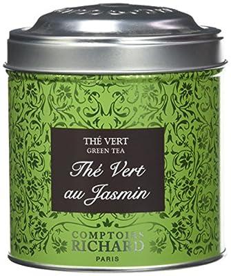Comptoirs Richard Thé Vert Jasmin Boîte Métal Vrac 100 g