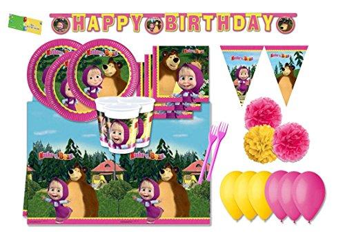 DECORATA PARTY KIT N 59 Coordinato per compleanno Masha e Orso