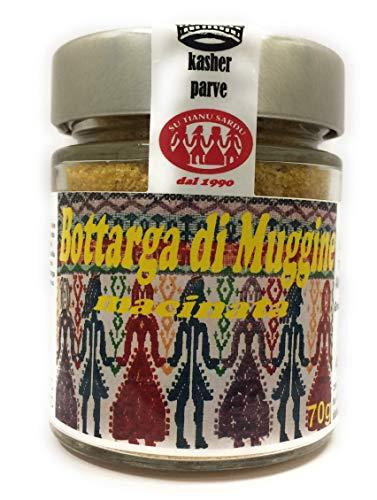 Bottarga di Muggine dalla Sardegna 70g macinata in vasetto (uova di muggine essiccata grattugiata) produzione artigianale sarda Kosher