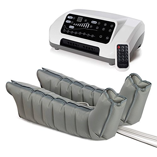 VENEN ENGEL® 8 PREMIUM Massage-Gerät :: 8 Luftpolster je Bein & 6 voreingestellte Programme für intensive Druckwellen-Massage :: inkl. Fernbedienung :: Top-Kundenservice & Qualität