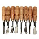 Holz-Meißel Werkzeug-Set für Skultpuren, zum Selbst-Basteln, (8Stück)