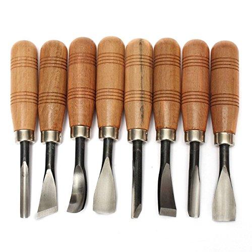 Juego de herramientas para esculpir madera, para trabajos de bricolaje (8piezas)
