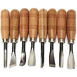 Juego de herramientas para esculpir madera, para trabajos de bricolaje (8 piezas)