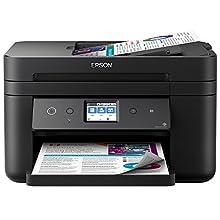 Epson Workforce WF-2860DWF Stampante Compatta, Inkjet 4-in-1, Stampa, Copia e Scansione, Fax, Connettività Wi-Fi e App, LCD da 6.1 cm, Nero Opaco