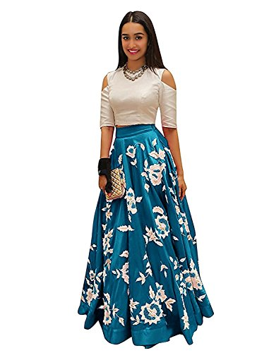 Nine Street Store Women's semi_stiched partywear dress material (New_arrival indo_western wear_dresses)  available at amazon for Rs.349