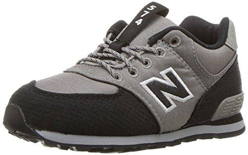 Nuovo Equilibrio Unisex-kinder Kl574wtg M Sneakers Grigio / Nero 2
