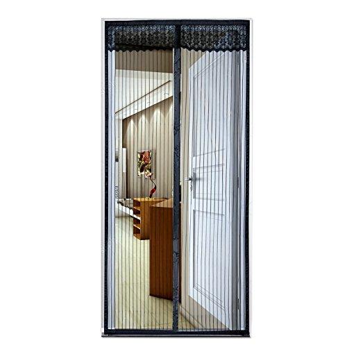 Fliegengitter Tür Moskitonetz Tür, Diealles Insektenschutz Magnet Vorhang Fliegenvorhang Moskitonetz Automatisches für Wohnzimmer, Balkontür, Kellertür und Terrassentür - 100*210 cm,Schwarz