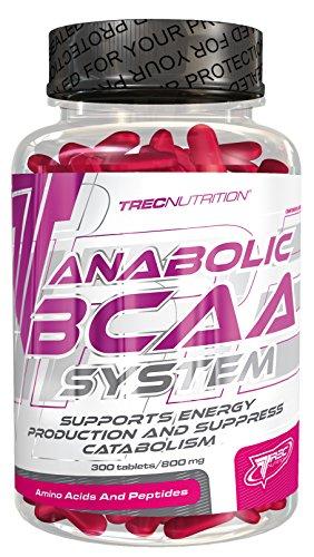 Trec Nutrition ANABOLIC BCAA SYSTEM Aminosäure Aminos mit Taurin und Vitamin B6 Regeneration Muskelaufbau Bodybuilding 300 Tabletten