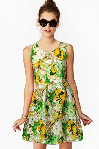 western dresses for women Floral Green Skater Colour exclusive Dress ( All Size available )