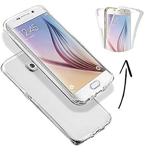 FINOO ® | Samsung Galaxy S7 Edge Komplettschutz Vorne Hinten TPU Rundumschutz Cover Handyhülle Full Body Dünn Transparent Gel Silikon Schutz Hülle Case Tasche (Transparent)