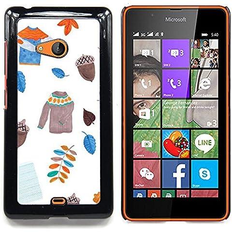 For Nokia Lumia 540 Case , Dejadores suéter blanco Acorn
