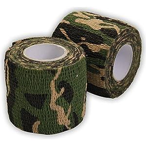 Ndier ruban de camouflage, Camo Wrap extérieur Autocollant de protection Camo Form Tissu non tissé