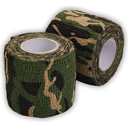 Ndier Bandage Cohésif Camouflage, Bande Camouflage Rouleaux Adhésif Bande Étanche Wrap Durable pour Protection et Déguisement