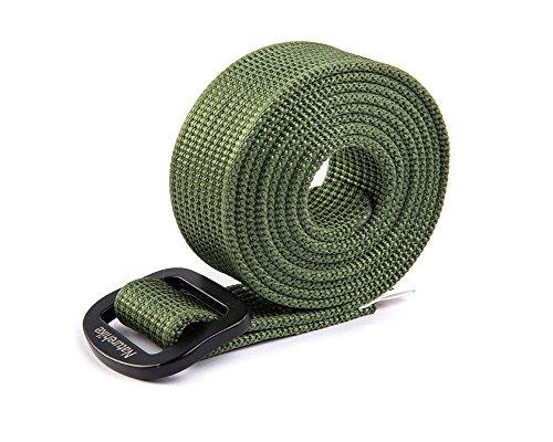 HYSENM Unisex Gürtel Nylon schnelltrocknend verstellbar Outdoor, Grün L