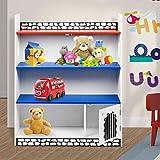 Bücherregal aus Holz für Kinder, Bücher und Spielzeuge, ordentliche Aufbewahrung Castle