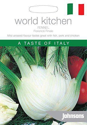 Johnsons Welt Botanics Gemuse, Bildhaftes Paket Fenchel (Florenz) Finale 100 Samen