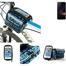 Bolso Bolsa Funda Bicicleta para Siswoo I8 Panther, Funda Móvil soporte tubo Bici, azul, Impermeable Resistente al Agua - K-S-Trade(TM)