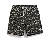 Lantra Besa Camouflage Wasserabweisend Schnelltrocknend Herren Männer Badehose Badeshorts Knielang Shorts für Wassersport Freizeit im Sommer mit Mesh Slip Typ 4 - XL