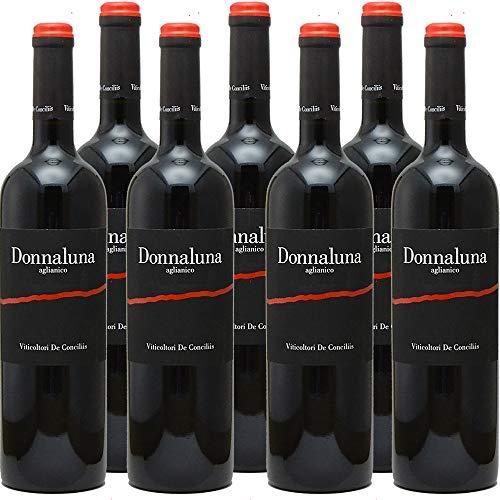 Cilento Aglianico IGP Donnaluna | Viticoltori De Conciliis | Il vino della dieta mediterranea | Confezione da 6 Bottiglie da 75 Cl | Vino Rosso | Idea Regalo