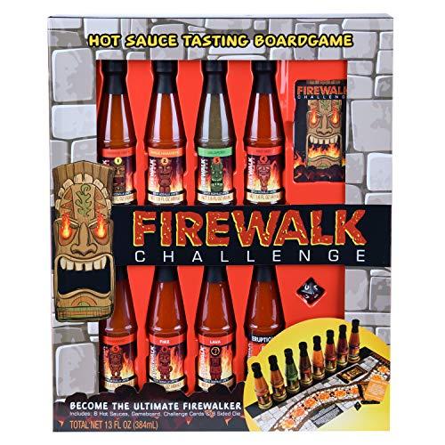 Modern Gourmet Foods - Firewalk Challenge Geschenkset - Spiel Mit 8 Chili-Saucen à 48g, Spielbrett, Karten und Würfel