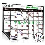 QC Life lavagna magnetica bianca frigorifero calendario, Horizontal