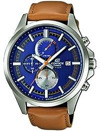 Casio Edifice – Herren-Armbanduhr mit Analog-Display und Echtlederarmband – EFV-520L-2AVUEF