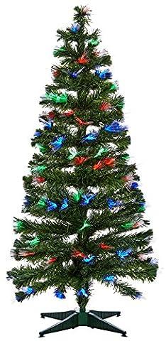 Um Mitternacht 5saf146mc Weihnachtsbaum Las Vegas Glasfaser mit 170Leuchtmittel LED Kunststoff/PVC Mehrfarbig