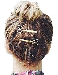 Ularma Or Ciseaux Ciseaux Clip pour cheveux Tiara Barrettes accessoires coiffure pour femmes fille,or