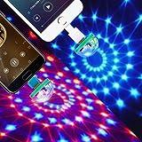 Mini Telefon Disco Licht USB-Kristallkugel-Stadiums-Licht (Geeignet für Typ-C / Android V8 / IPhone Telefon Power) Upxiang Tragbare home party licht DC 5 V Disco Ball Handy Lampe (Typ-C-Telefon)