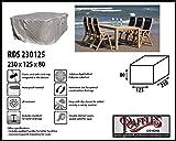 RDS230165 Schutzhaube für Gartenmöbel Sitzgruppe, 1 Tisch mit 6 verstellbare Hochlehner Abdeckung Gartenmöbel, Schutzhülle Gartenmöbel und Abdeckplane für Sitzgarnituren, Abdeckung Gartengarnitur