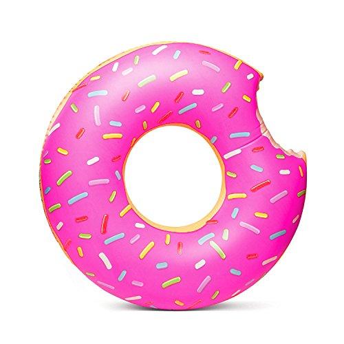 Nicedeal nuoto anello ciambella salvagente summer water toy gigantic donut pool float, divertente gonfiabile in vinile estate piscina o spiaggia giocattolo attrezzature sportive, come fitness, nuoto