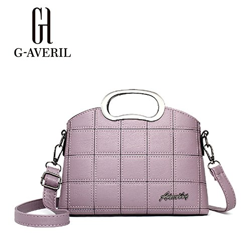 G-AVERIL, Borsa a mano donna Grigio Grey Purple