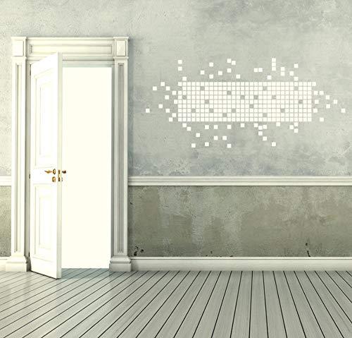 DIY Quadrat Wandaufkleber Abziehbilder Kinder Kinderzimmer Dekoration Vinyl Wandkunst Aufkleber 60 * 58 cm