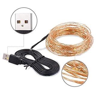 Alfa Micro LED Lichterketten mit USB, Dekoration für Terrasse, Garten, Schlafzimmer, Weihnachtsfest, Hochzeit