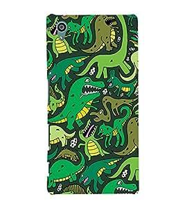 Printvisa Assorted Dinosaur Pattern Back Case Cover for Sony Xperia Z5::Sony Xperia Z5 Dual