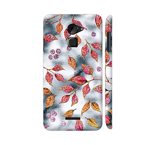 Colorpur Autum Leaves Silver Metal 3 Printed Back Case Cover for Coolpad Note 3 Lite