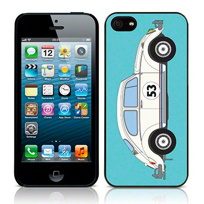 Call Candy Coque arrière image Herbie Coque pour Apple iPhone 5/5S/5 C/SE – Cyan/Blanc Image