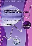 Management des systèmes d'information Corrigé - UE 5 du DSCG