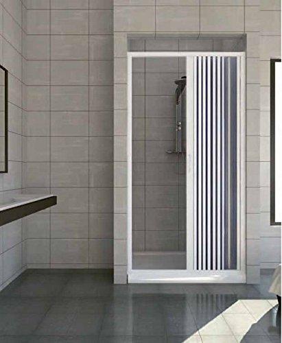Porta box doccia nicchia 150 parete Pvc soffietto da 1 lato I