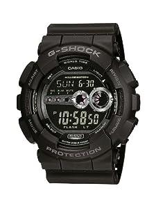 CASIO G-Shock GD-100-1BER de cuarzo, correa de resina color negro (con alarma, luz, cronómetro)