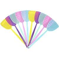 Blooven Fliegenklatsche 10 Stück, Pest Control, mit Integriertem Mückenschaber Fliegenschutz Mückenschutz für Fliegen, Mücken und Insekten, Farblich Sortiert (Fünf Farben)