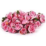 WINOMO 50pcs artificiale teste di Rose di seta di nozze fiori