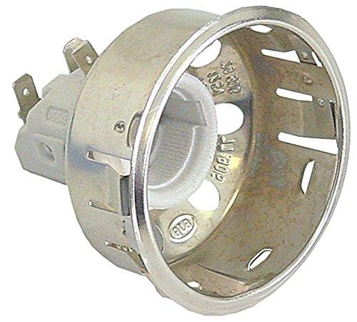 Cuppone Lampenfassung für Pizzaofen EVOLUTION MECHANICAL, EVOLUTION DIGITAL E14 Einbau ø 65,5mm Anschluss Flachstecker 6,3mm