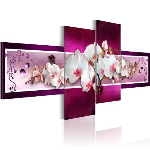 200x90 !!!FORMATO GRANDE + CUADRO SOBRE LIENZO + 4 partes + flores + cuadro 051448 + 200x90 cm +++ GRAN VARIEDAD DE CUADROS Y IMPRESOS ARTÍSTICOS EN NUESTRA TIENDA VIRTUAL. +++