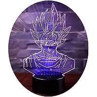 3D Illusion Nuit Lumière Win-Y LED Bureau Table Lampe 7 Couleur Tactile Lampe Maison Chambre Bureau Décor pour Enfants D'anniversaire De Noël Cadeau (Dragon Ball A)